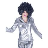 disco kleding dames zilver glitter jasje