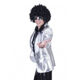 Disco Fever jasje heren zilver bling bling