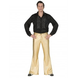 Disco broek heren goud Fever