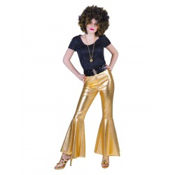 Disco broek dames goud Fever
