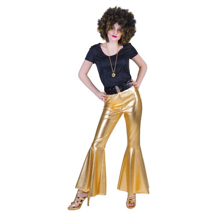 Disco broek dames goud Fever