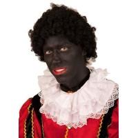 Pieten pruik basic zwart