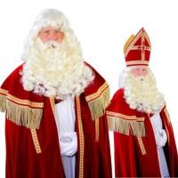 Sinterklaas baard + pruik + losse snor Myra