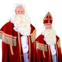 Sinterklaas baard + pruik + vast snor Madrid