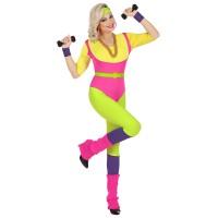 Jaren 80 retro fitness aerobics pakje dames