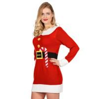 e2b82a1aa6891a Fout Kerstjurkje rood gebreid Kerstelf dames