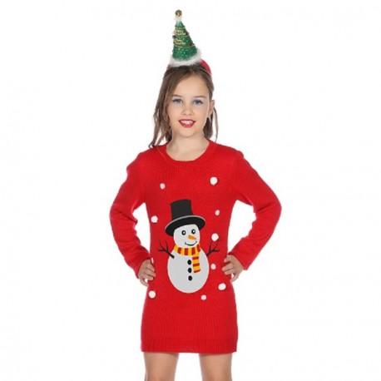 db2ba48e52bb09 foute kerst jurk kind kerstkleding sneeuwman