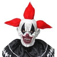 Killer clown masker Halloween met haar