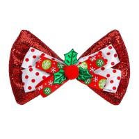 Kerst strikje rood glitter