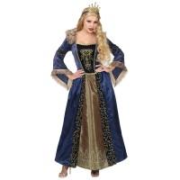 Middeleeuwse koningin kostuum dames