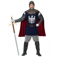 Middeleeuwse ridder kostuum heren blauw