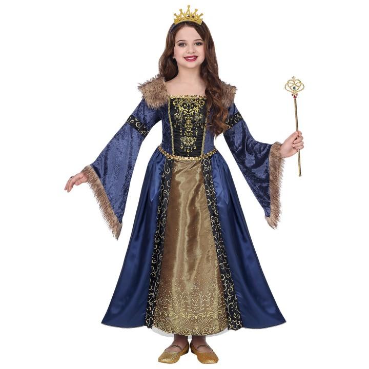 Middeleeuwse koningin kostuum kind