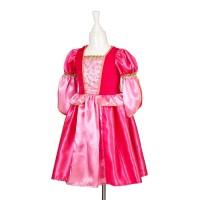 Prinsessenjurk meisjes Adeline fuchsia + cape