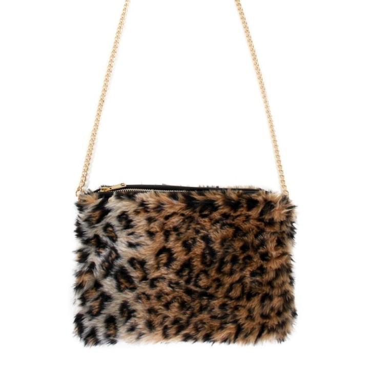 Handtas luipaard panter met ketting