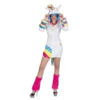 Eenhoorn unicorn jurk rainbow dames