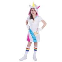 Eenhoorn unicorn jurk rainbow kind