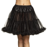 Zwarte petticoat 3-laags