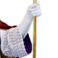 Witte Sinterklaas handschoenen lang