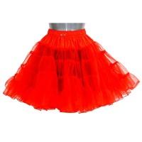 Rode petticoat 2-laags deluxe