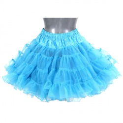 Turquoise petticoat 2-laags deluxe