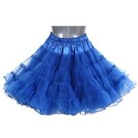 Blauwe petticoat 2-laags deluxe
