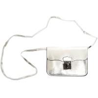 schoudertasje zilveren clutch carnaval handtasje
