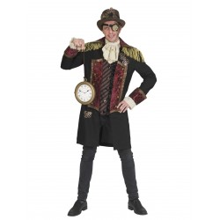 Steampunk jas voor heren + jabot