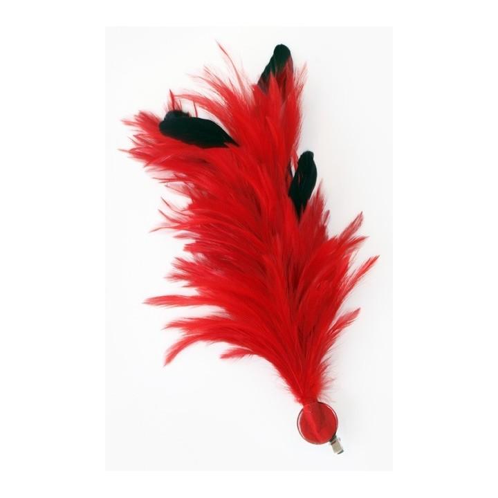 Verenpluim rood 30 cm buigbare fournituur