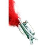 Verenpluim rood buigbaar speld clip carnaval