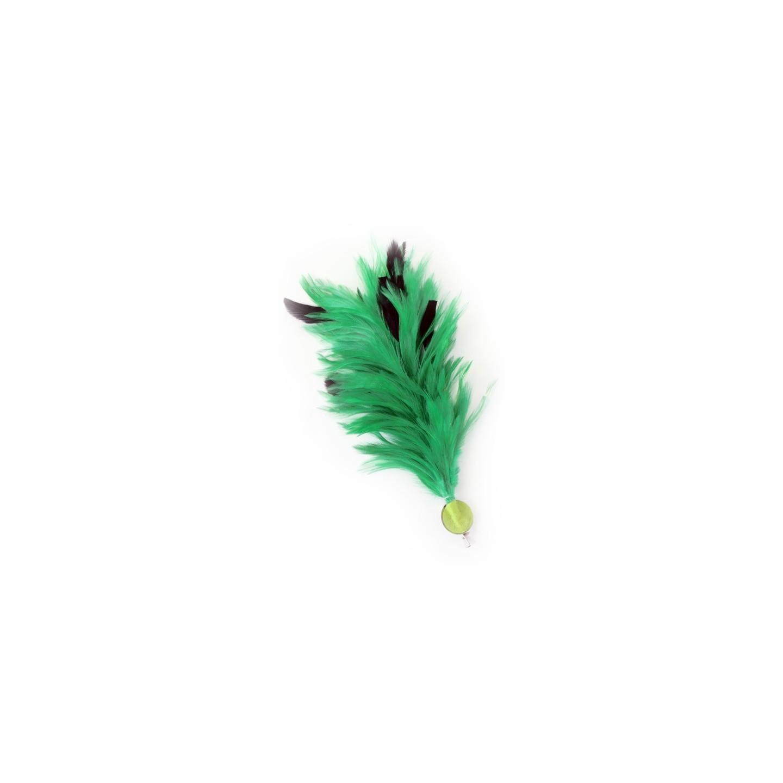 Verenpluim groen buigbaar speld clip carnaval