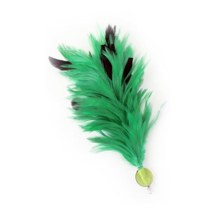 Verenpluim groen 30 cm buigbare fournituur