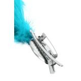 Verenpluim turquoise buigbaar speld clip carnaval