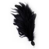 Verenpluim zwart buigbaar speld clip carnaval