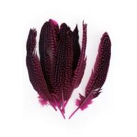 Parelhoen veren roze 15/20cm 10st