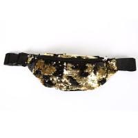 Heuptasje glitter goud en zwart (wrijven)