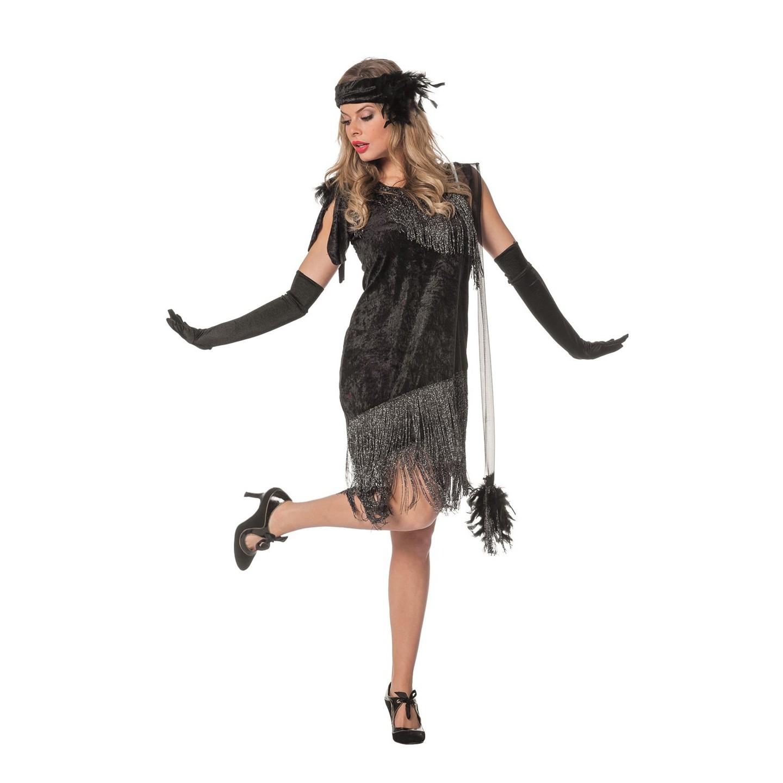 Charleston Jurk zwart jaren 20 kleding