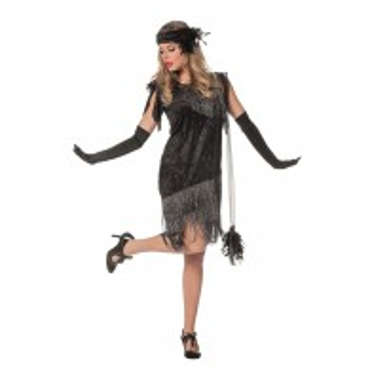 Charleston jurkje zwart deluxe