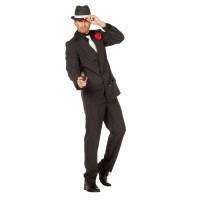 Maffia kostuum heren gangster pak zwart