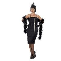 Charleston jurk zwart dames lang