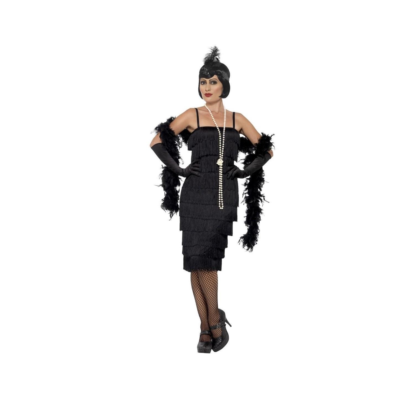 Verrassend Charleston jurk zwart | Jokershop.be - Jaren 20 verkleedkleding YR-05