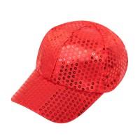 Glitter pet rood met pailletten