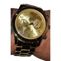 Gouden pooier horloge