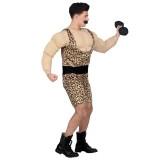 vrijgezellenfeest kostuum man bodybuilder pak carnaval