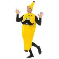 """Banaan kostuum """"Mr Banana"""" met snor"""