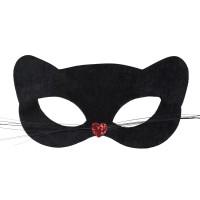 Venetiaans oogmasker zwart pussycat
