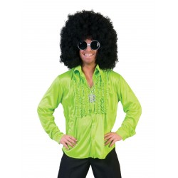 Disco hemd groen Saturday Night heren