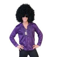 disco hemd paars jaren 70 kleding