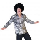 zilver disco shirt heren hemd