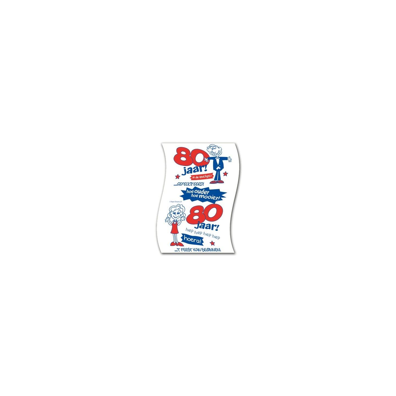 humoristisch toiletpapier 80 jaar verjaardag