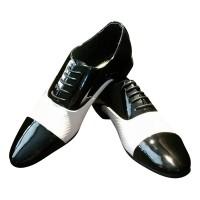 Gangster schoenen Rock'n roll zwart/wit
